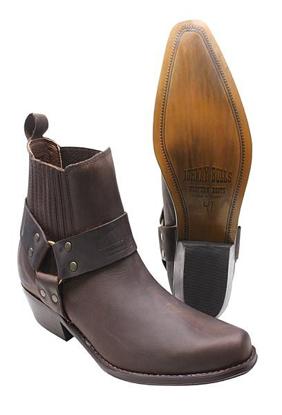 Obrázek Koně Johnny Bulls  K 075 kožené boty hnědé  na motorku