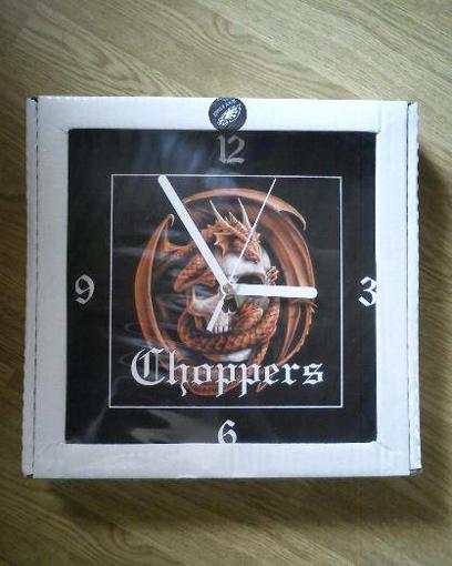 Obrázek z Nástěnné hodiny CHOPPERS