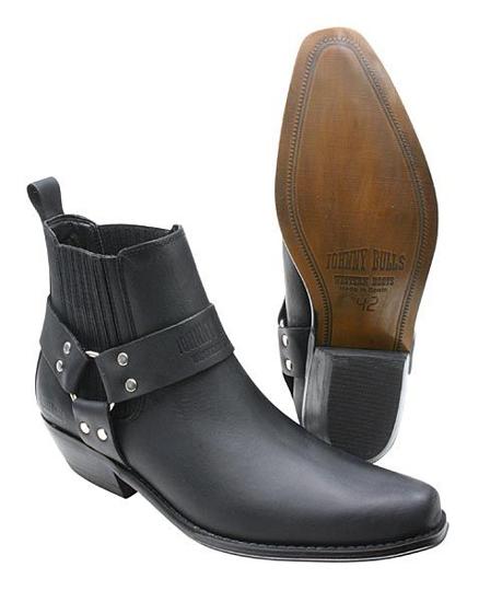 Obrázek z Koně Johnny Bulls  K 074 kožené boty nízké na motorku