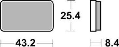 Obrázek SBS Brzdové destičky 827ATS