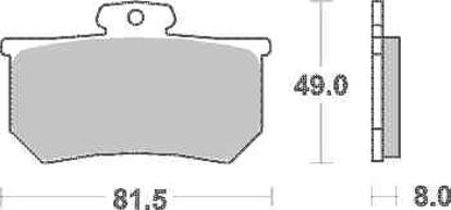 Obrázek SBS Brzdové destičky 599RS