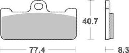 Obrázek SBS Brzdové destičky 695DS
