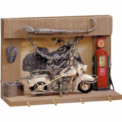 Obrázek Věšák na klíče - model motocyklu