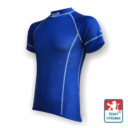 Obrázek Pánské triko krátký rukáv tm.modrá/šedá Smart Ag