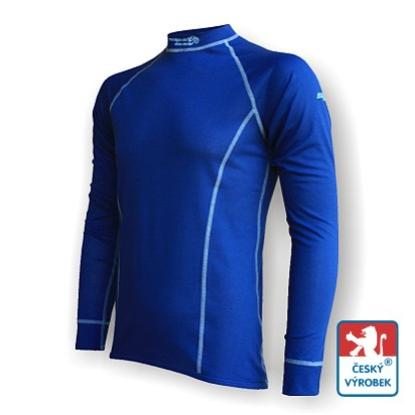 Obrázek Pánské triko dlouhý rukáv tm.modrá/šedá Smart Ag