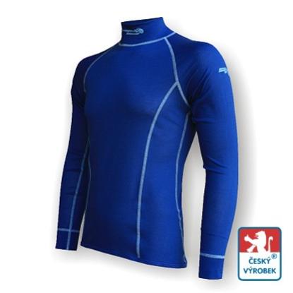 Obrázek Pánské triko dlouhý rukáv-stoják tm.modrá/šedá Smart Ag