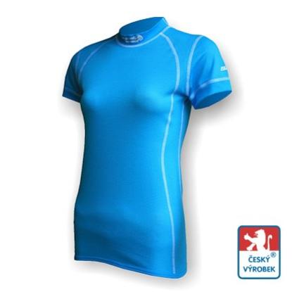 Obrázek Dámské triko krátký rukáv sv.modrá/bílá Smart Ag