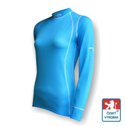 Obrázek Dámské triko dlouhý rukáv sv.modrá/bílá Smart Ag