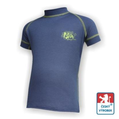 Obrázek Dětské triko krátký rukáv tm.modrá/zelená Smart Ag