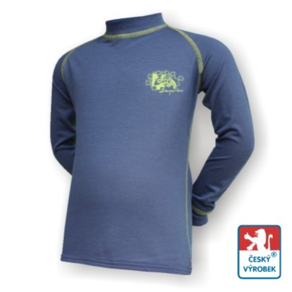 Obrázek Dětské triko dlouhý rukáv tm.modrá/zelená Smart Ag