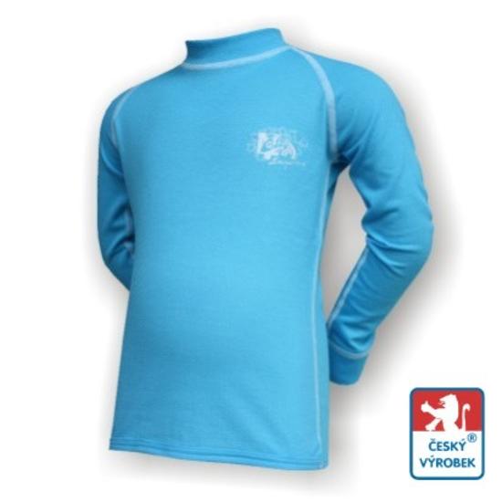 Obrázek z Dětské triko dlouhý rukáv sv.modrá/bílá Smart Ag