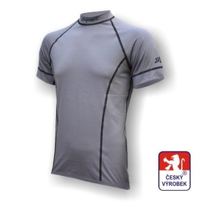 Obrázek Pánské triko krátký rukáv šedá Silver Tech