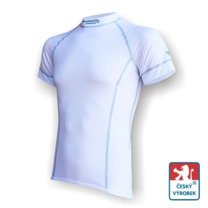 Obrázek Pánské triko krátký rukáv bílá/šedá Silver Tech