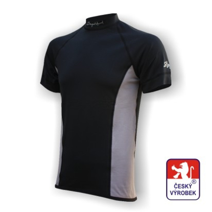 Obrázek Pánské triko krátký rukáv černá/šedá Silver Tech