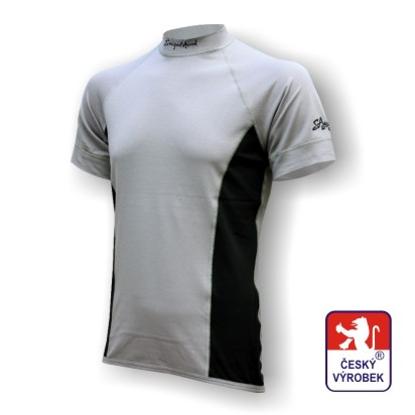 Obrázek Pánské triko krátký rukáv šedá/černá Silver Tech