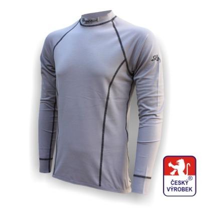 Obrázek Pánské triko dlouhý rukáv šedá Silver Tech