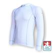 Obrázek z Pánské triko dlouhý rukáv bílá/šedá Silver Tech
