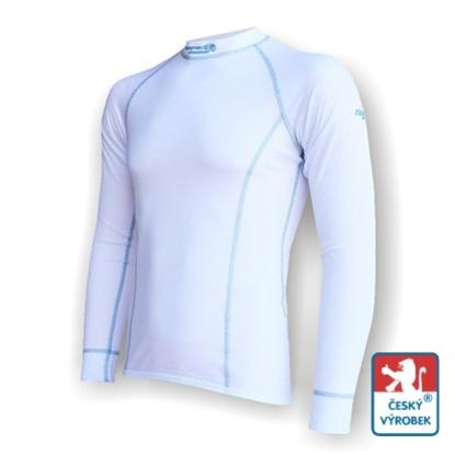 Obrázek Pánské triko dlouhý rukáv bílá/šedá Silver Tech
