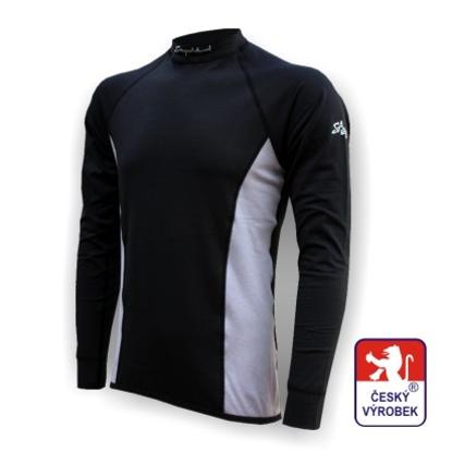 Obrázek Pánské triko dlouhý rukáv černá/šedá Silver Tech