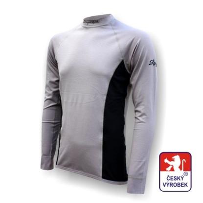 Obrázek Pánské triko dlouhý rukáv šedá/černá Silver Tech