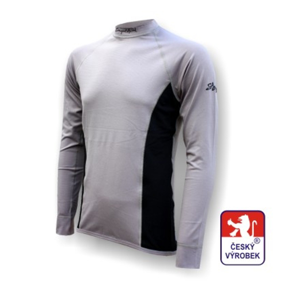 Obrázek z Pánské triko dlouhý rukáv šedá/černá Silver Tech