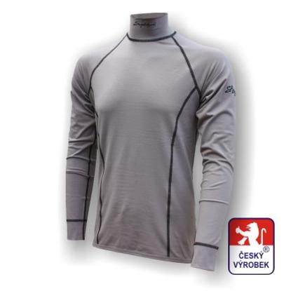 Obrázek Pánské triko dlouhý rukáv-stoják šedá Silver Tech