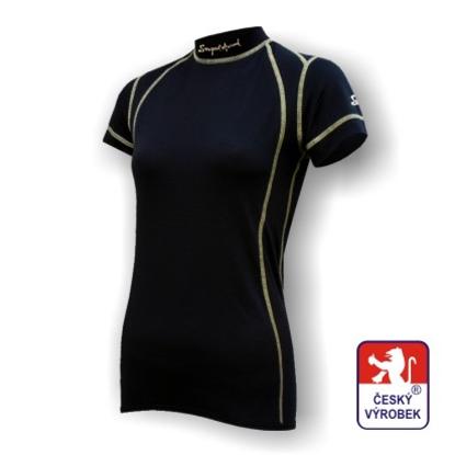 Obrázek Dámské triko krátký rukáv černá SilverTech