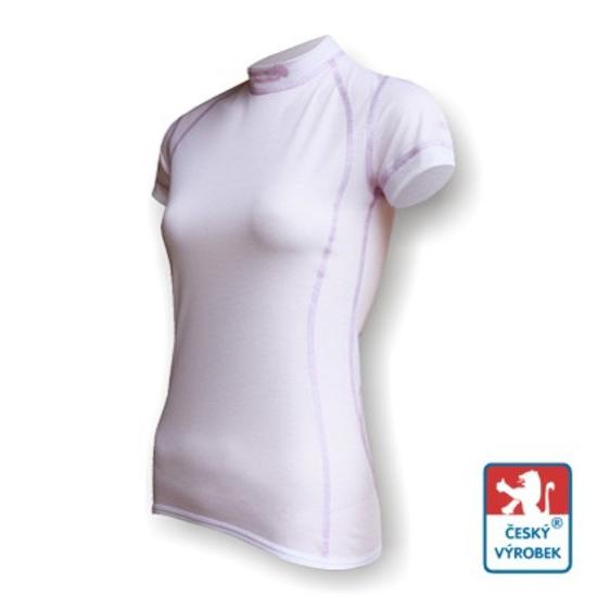 Obrázek z Dámské triko krátký rukáv bílá/fialová SilverTech