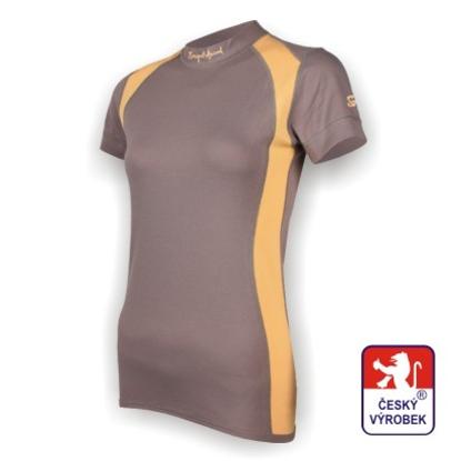 Obrázek Dámské triko krátký rukáv šedá/béžová SilverTech