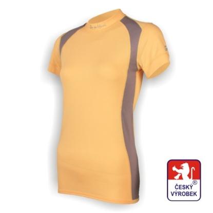 Obrázek Dámské triko krátký rukáv béžová/šedá SilverTech