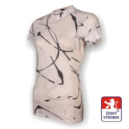 Obrázek Dámské triko krátký rukáv potisk bílá SilverTech