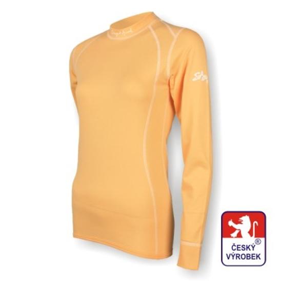 Obrázek z Dámské triko dlouhý rukáv béžová SilverTech