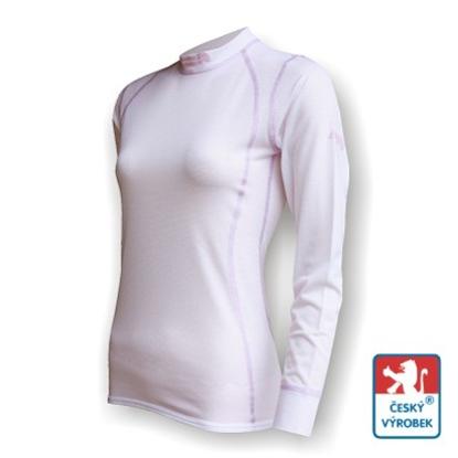 Obrázek Dámské triko dlouhý rukáv bílá/fialová SilverTech