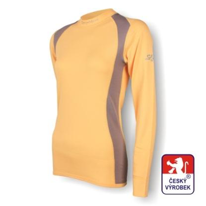 Obrázek Dámské triko dlouhý rukáv béžová/šedá SilverTech
