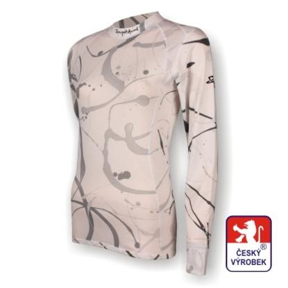 Obrázek Dámské triko dlouhý rukáv potisk bílá SilverTech