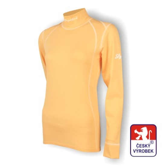 Obrázek z Dámské triko dlouhý rukáv-stoják béžová SilverTech