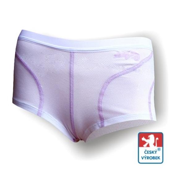 Obrázek z Dámské kalhotky s nohavičkou bílá/fialová SilverTech