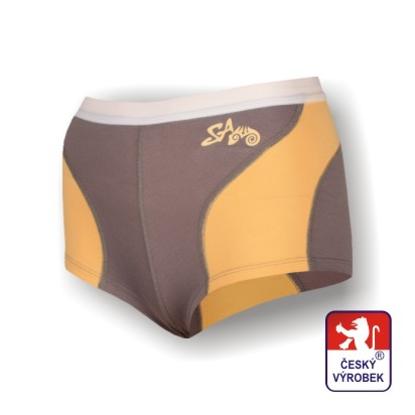 Obrázek Dámské kalhotky s nohavičkou šedá/béžová SilverTech