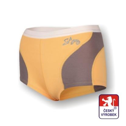 Obrázek Dámské kalhotky s nohavičkou béžová/šedá SilverTech