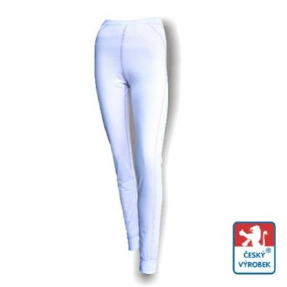 Obrázek Dámské spodky dlouhé bílá/fialová SilverTech