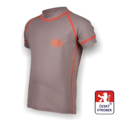 Obrázek Dětské triko krátký rukáv šedá/oranžová SilverTech