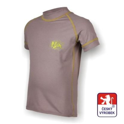 Obrázek Dětské triko krátký rukáv šedá/zelená SilverTech