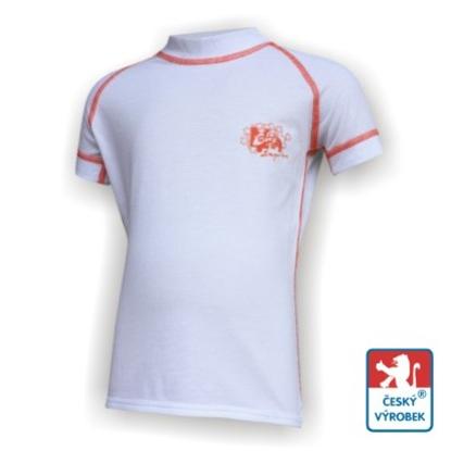 Obrázek Dětské triko krátký rukáv bílá/oranžová SilverTech