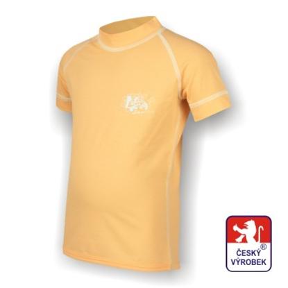 Obrázek Dětské triko krátký rukáv béžová/bílá SilverTech
