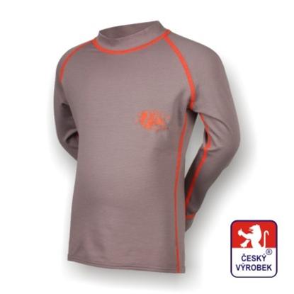 Obrázek Dětské triko dlouhý rukáv šedá/oranžová SilverTech