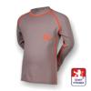 Obrázek z Dětské triko dlouhý rukáv šedá/oranžová SilverTech