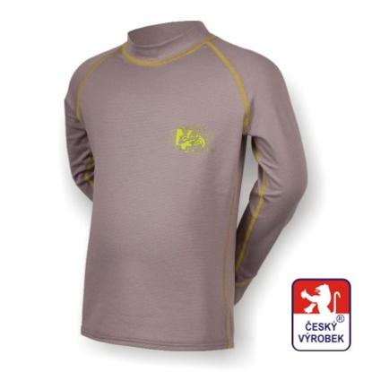 Obrázek Dětské triko dlouhý rukáv šedá/zelená SilverTech