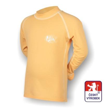 Obrázek Dětské triko dlouhý rukáv béžová/bílá SilverTech