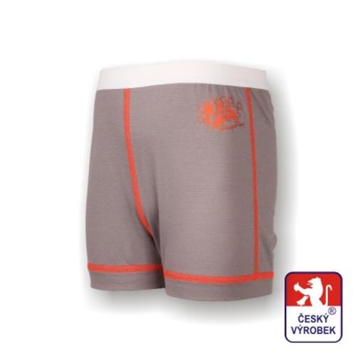 Obrázek z Dětské trenýrky šedá/oranžová SilverTech