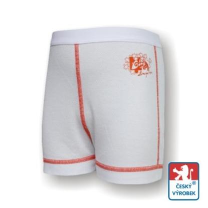 Obrázek Dětské trenýrky bílá/oranžová SilverTech